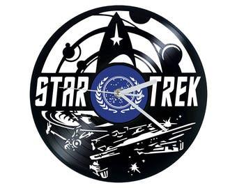 Vinyl Clock, Star Trek, Wrath of Khan, Christmas gift, Wall clock, vinyl record clock