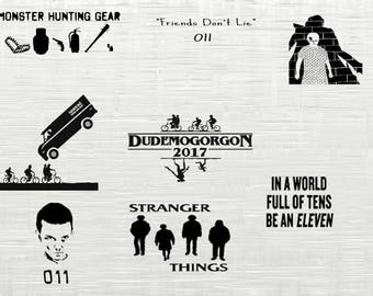 stranger things SVG cutting file , stranger things svg, dxf cameo, silhouette  svg cutfiles,  svg,cricut, cameo, cricut,silhouette