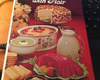 COUNTRY COOKING with FLAIR, California Milk Advisory Board hc Cookbook, 1975