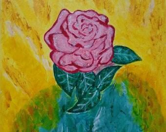 Acrylic frame. The Magic Rose