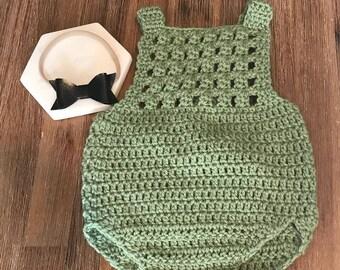 Newborn Crochet Romper