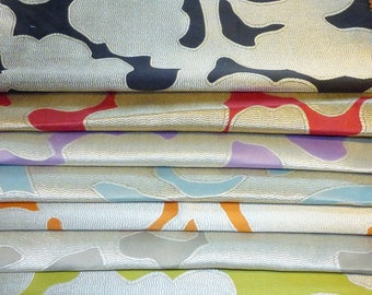 SET OF 7 FABRICS FROM 7 DIFFERENT COLORS