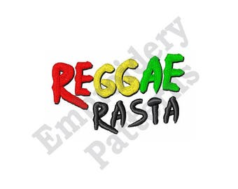 Reggae Rasta - Machine Embroidery Design