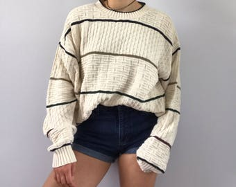 Oversized Vintage Striped Lee Sweater