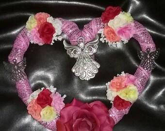 Angel heart wreath