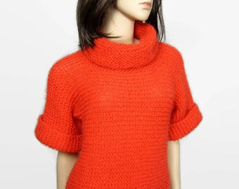 PERSIAN - Airy mohair and alpaca t 38 - oversize hand knit sweater