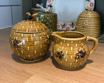 Beautiful Vintage Honey Pot and Jug