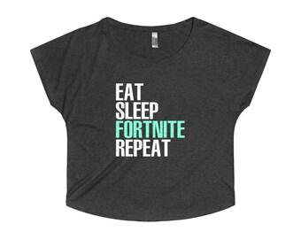 Fortnite Womens Tshirt - Battle Royale Gamers Ladies Shirt - Fortnite Gaming T Shirts - Fortnite Clothing - Womens Fortnite Dolman Shirt