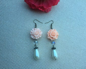 earring,long earring,earring,bronze earring, earring,drop earring,beaded earring,dangle earring