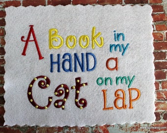 Adult Reading Pillow 5x7 Machine Embroidery Design
