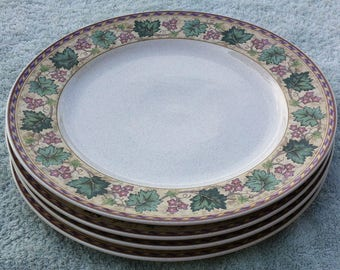 "Christopher Stuart Berkshire Y2220 11"" plates (4)"