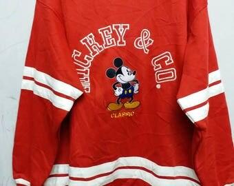Vintage mickey mouse classic sweathirt hip hop style L