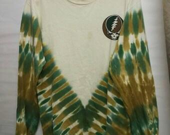 Vintage 90s Grateful Dead long sleeve tie dye t-shirt size S