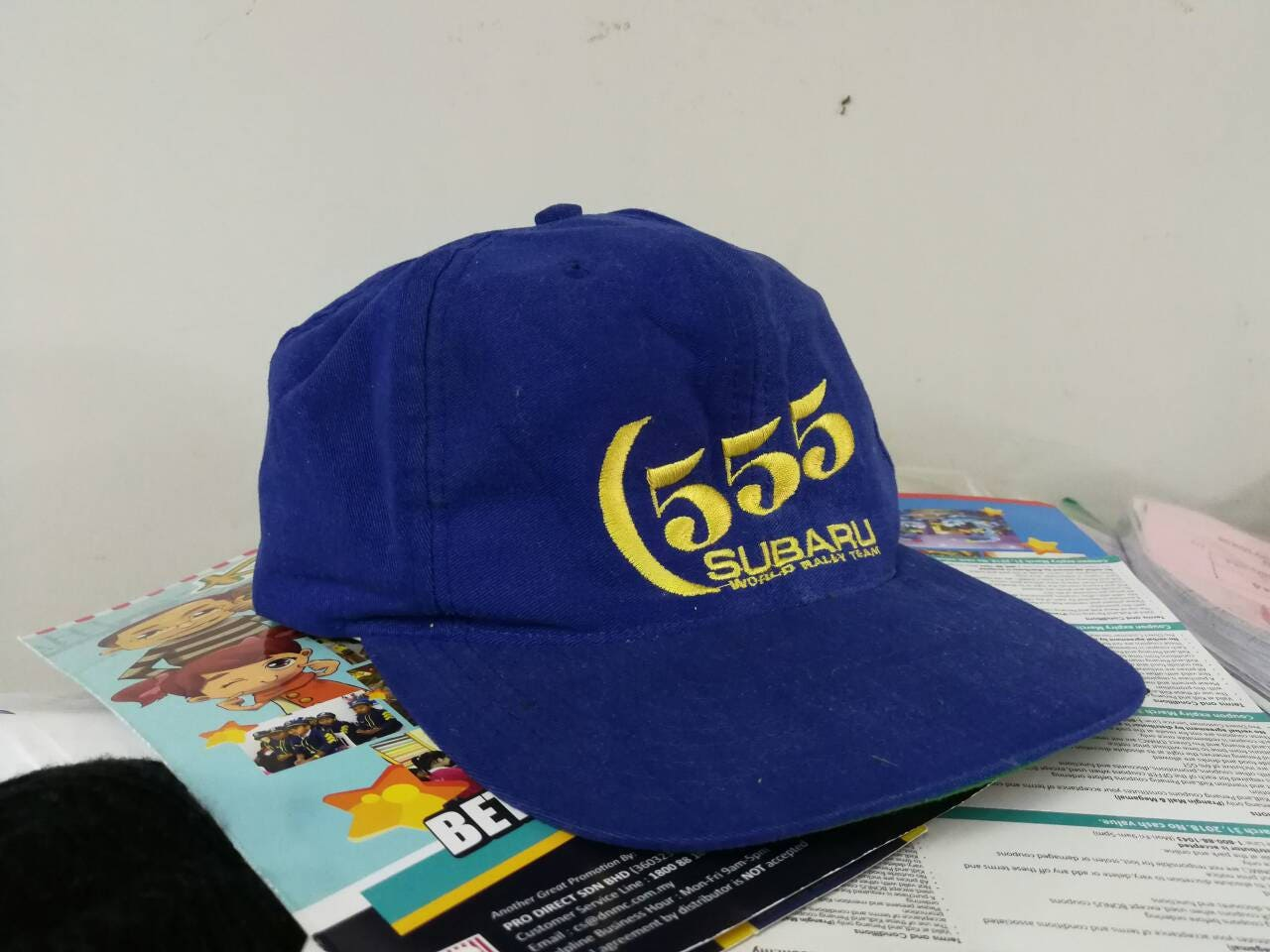 Vintage 80s subaru 555 world rally team cap free size ... 321faa728d7