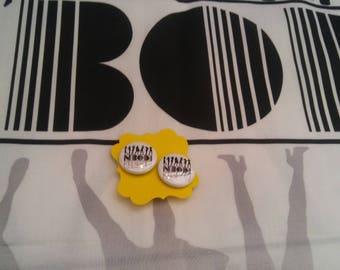 N'Bodi custom button earrings