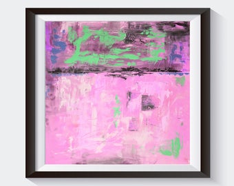 Printable Instant Download Of Original Abstract Acrylic Painting Pink Purple Grey Violet PRINT Wall Art Home Decor Wall Hanging AU015P6
