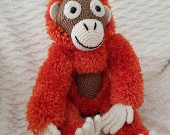 Toby the Orangutan Amigurumi Toy **FREE SHIPPING!**