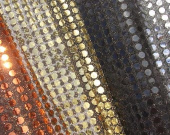 Metal Shades Sequin Fabrics - 44 Inches Wide