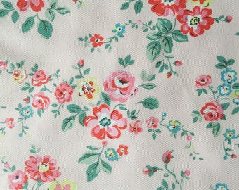 "Cath Kidston Half Yard Cotton Canvas Fabric 56"" Wide_Thorp Flowers_2 DF038"