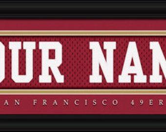 San Francisco 49ers Jersey Stitch - Framed Print - NFL Gift - NFL Item
