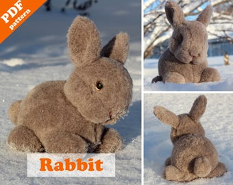 Rabbit sewing pattern - PDF Instant Download. Softie DIY toy - pattern & tutorial.