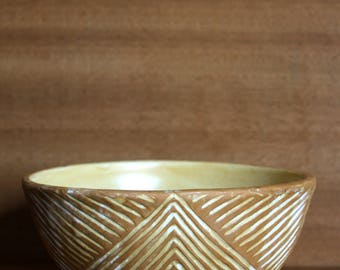 Earthenware Chevron Pottery Bowl