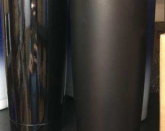 20oz stainless steel Matt or gloss black tumbler