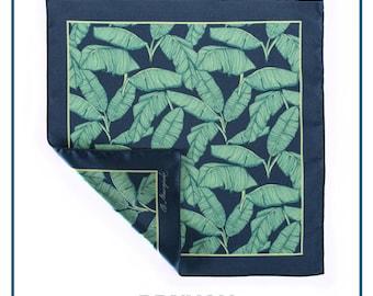 "Pocket square ""Palm leafs"""
