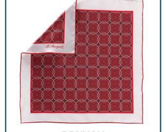 """Pocket square """"Kind of red #2"""""""