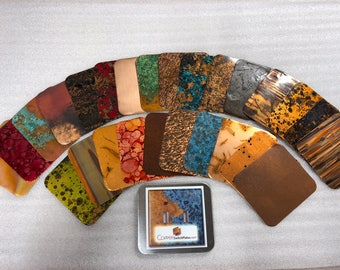Patina Copper Sample Pack - All Finshes