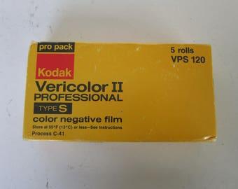 1 roll of 120mm Kodak Vericolor II Color Film Type S exp 1980 vintage lomography