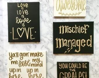 custom quote canvas set