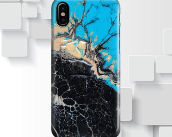 iphone x case Black Blue Marble iphone 6 case iphone 7 case iphone 8 case iphone 8 plus case samsung s8 case samsung note 8 case 7
