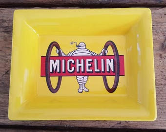 Tray ceramic advertising Michelin tire bike