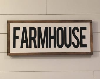 FARMHOUSE sign