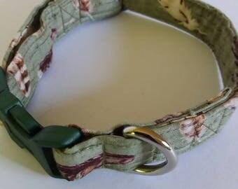 Green dog collar, Bespoke dog collars, handmade dog collars, dog collars UK, unique dog collars, fabric dog collar, high quality dog collars