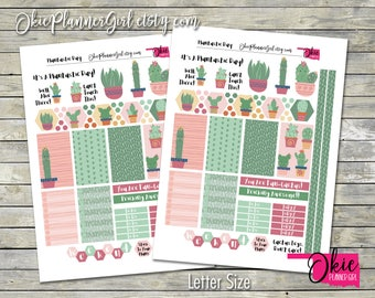 Cactus Planner Sticker Kit - It's A Plantastic Day