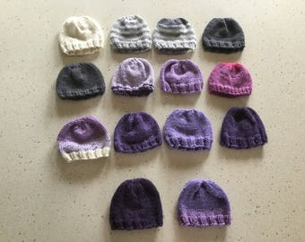 Knitted, Newborn Hats