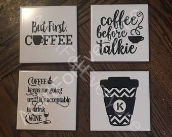 SALE!!! Coffee Lovers Coaster Set of 4