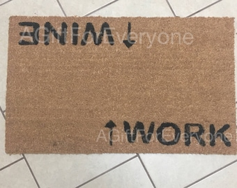 Work/Wine doormat
