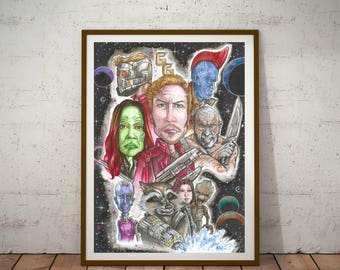 Guardians of the Galaxy, Eco Friendly, A3 Poster/Print