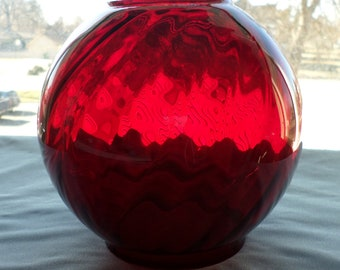 7 inch Ruby Glass Ball Shade