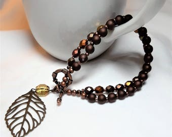 Autumn Elegance Bracelet with Charm