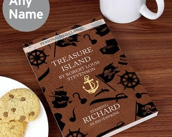 Personalised Treasure Island Novel - 6 CHARACTERS By Robert Louis Stevenson Kids Childrens Gifts Ideas for Boys Girls Babys Babies Book