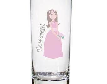 Fabulous Flower Girl Hi Ball Glass