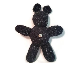 Midnight Bear Crochet Belly Button Beast Plushie