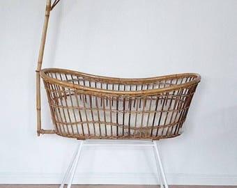 Rattan Bassinet Cradle by Rohe Noordwolde