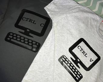 CTRL C CTRL V T-shirts, copy & paste, parent and child