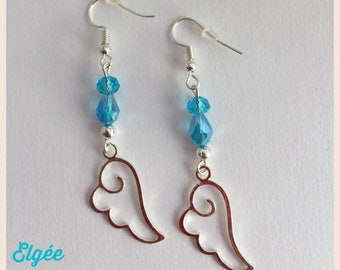 Earrings angel wing earrings