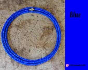 Blue - Waist Beads - Belly Chain - Belly Beads - African Waist Beads